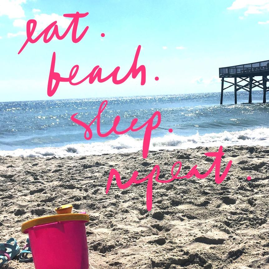 Eat. Beach. Sleep.Repeat.